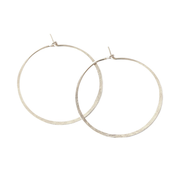 The Perfect Hoop Earrings-Silver