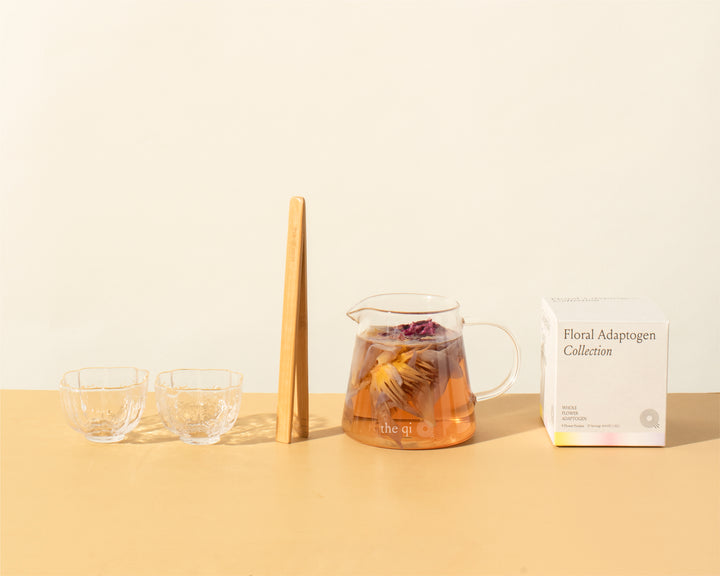 The Qi Ritual Set- Whole Flower Tea