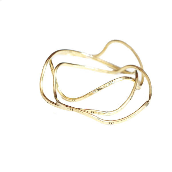Desert Rose Wave Bangle
