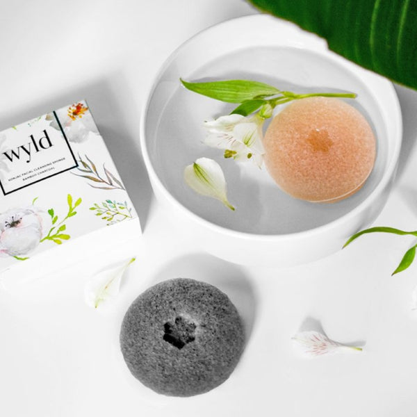 Konjac Exfoliating Sponge Set- Charcoal + French Clay