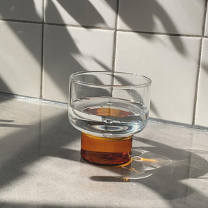 Aita Amber Base Short Glass- 8 oz.