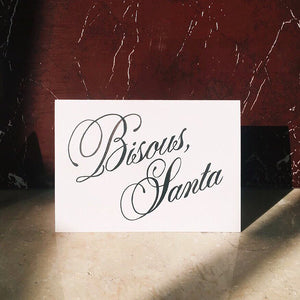 Bisous Santa Greeting Card - A6