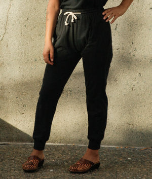 Organic Jogger Lounge Pants- Black
