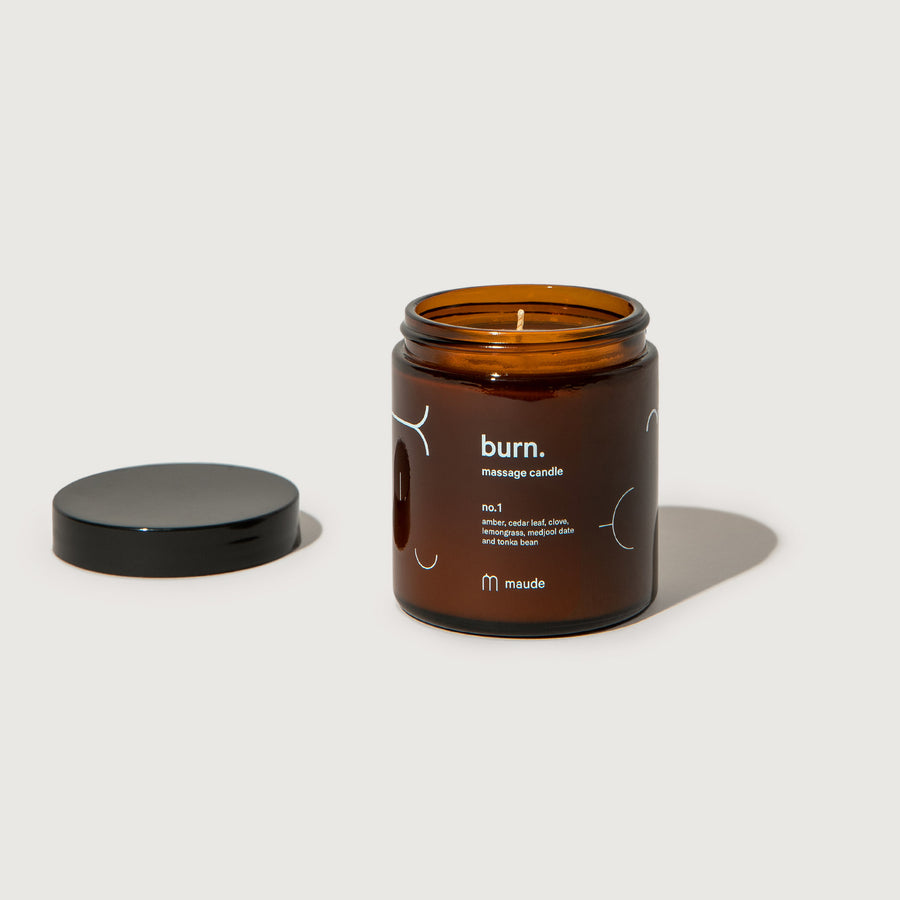 Burn no. 1 massage candle