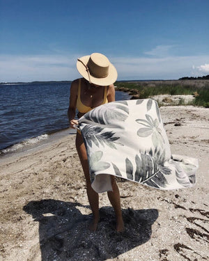 Fern Recycled Towel- Beach + Yoga + Camping