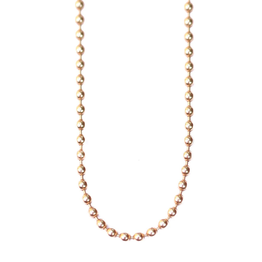 Gold Ball Layering Chain Necklace- 14K Gold