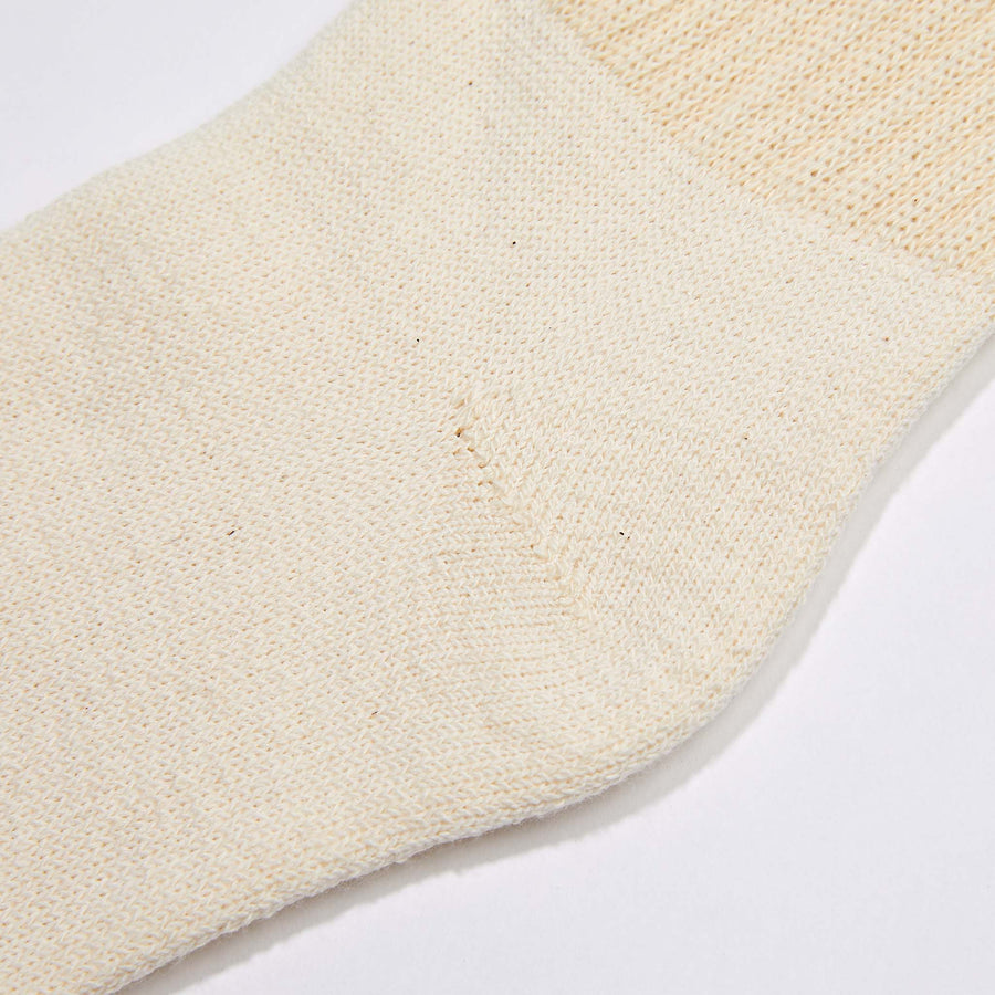 Organic Cotton Crew Socks- Natural