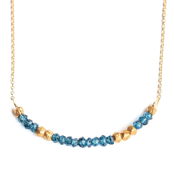 """Love"" Necklace - London Blue Topaz"