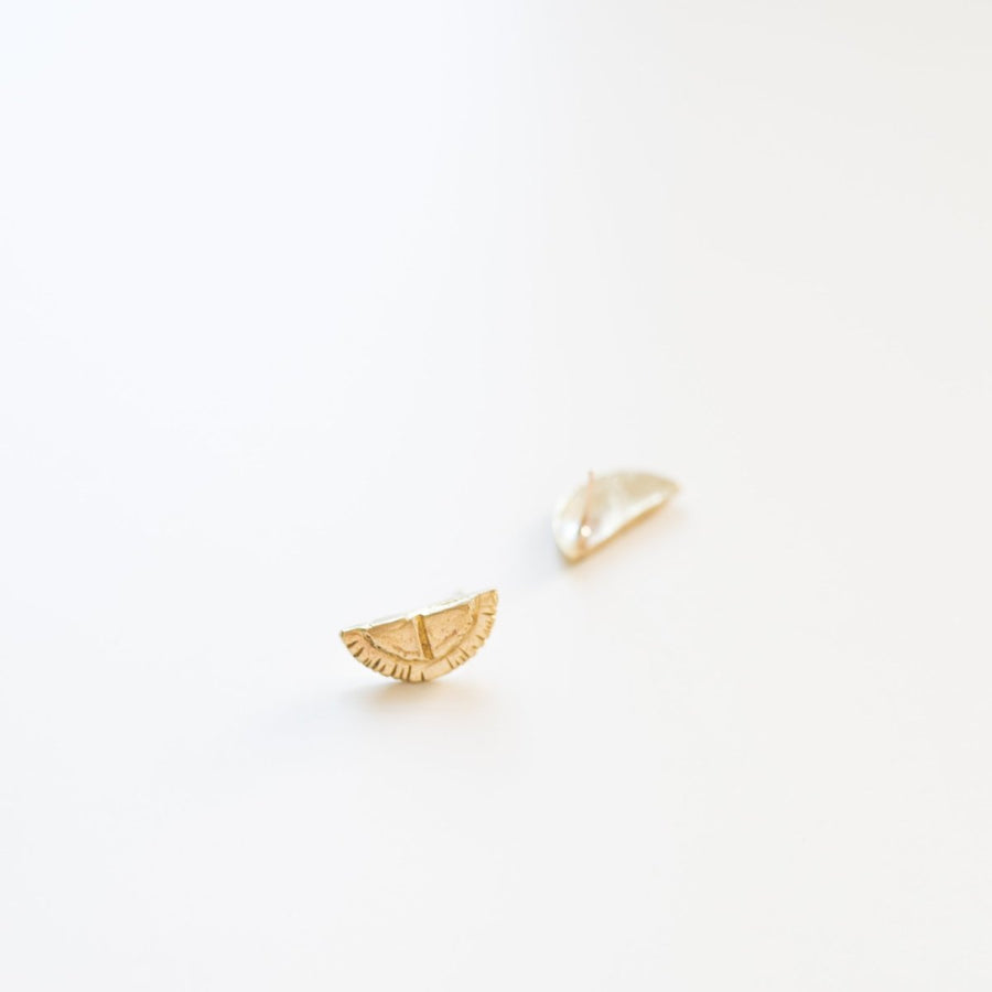 Mesa Stud Earrings- Bronze