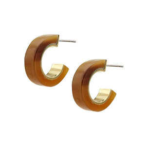 Sana Mini Horn Hoop Earrings- Natural