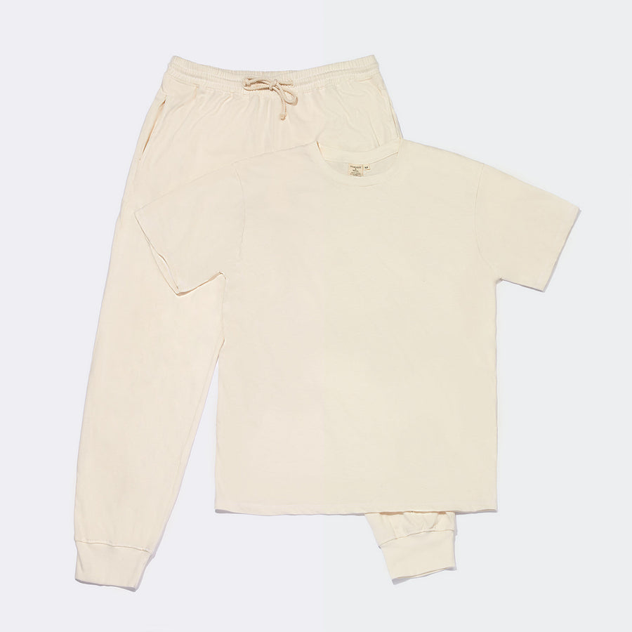 Organic Loungewear Set - Natural
