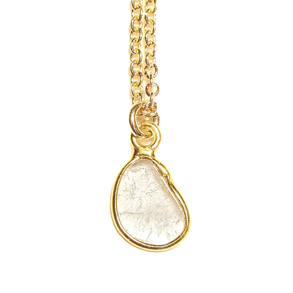 Diamond Slice Necklace - White