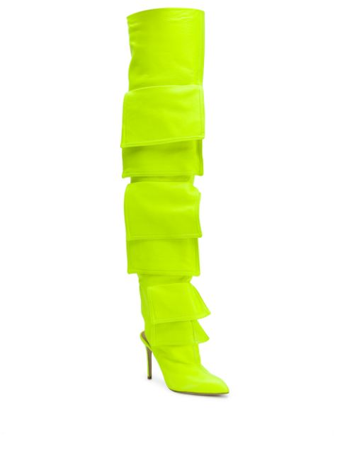 Pocketed Neon Long Boots