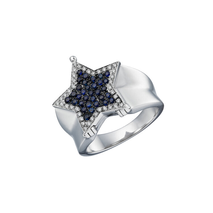 By Runa Star Locket Ring