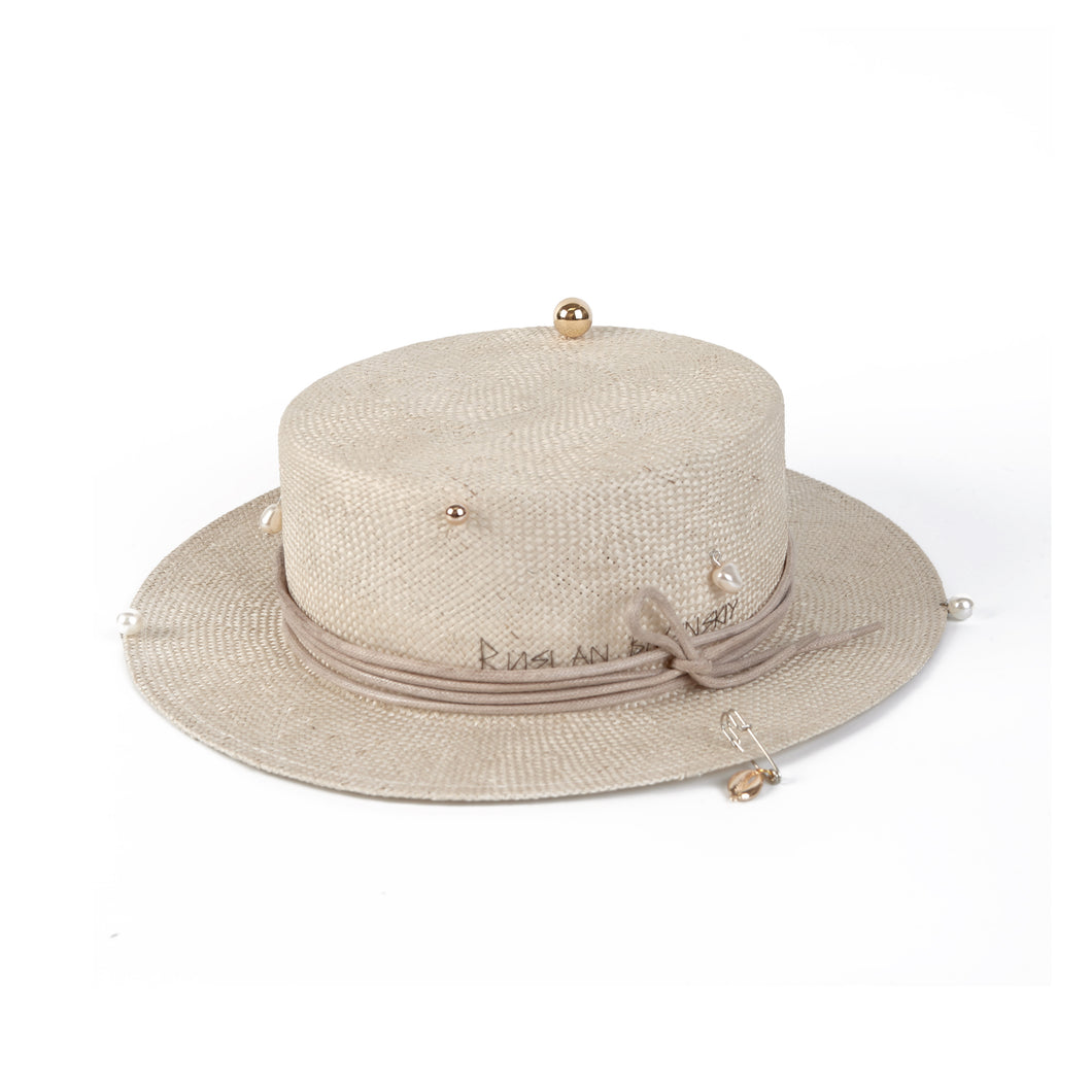 Piercing Straw Boater Hat