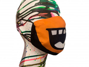 NZ SMILE MASK in ORANGE
