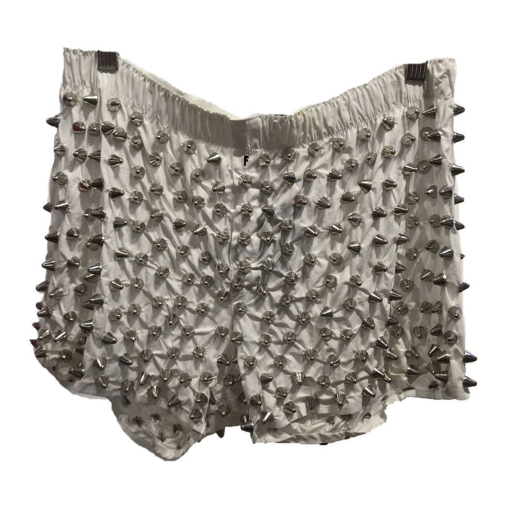 Patricia Field Studmuffin NYC Studded White Boxer Shorts
