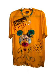 Patricia Field Daquane Cherry Teddy Painted T-Shirt