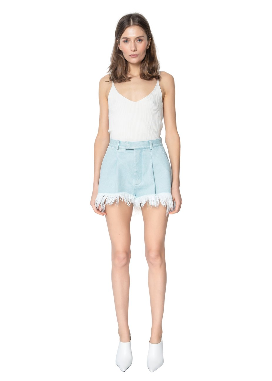 Ksenia Schnaider Denim Mini Shorts