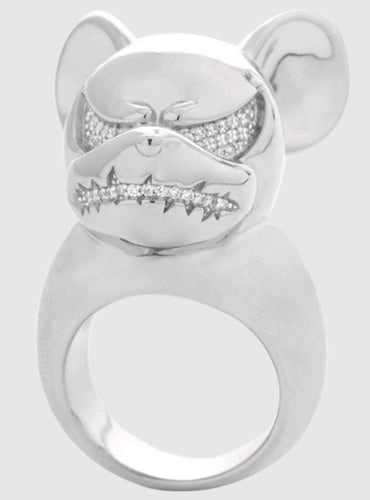 Lynn Ban PAVE MAD MICKEY RING