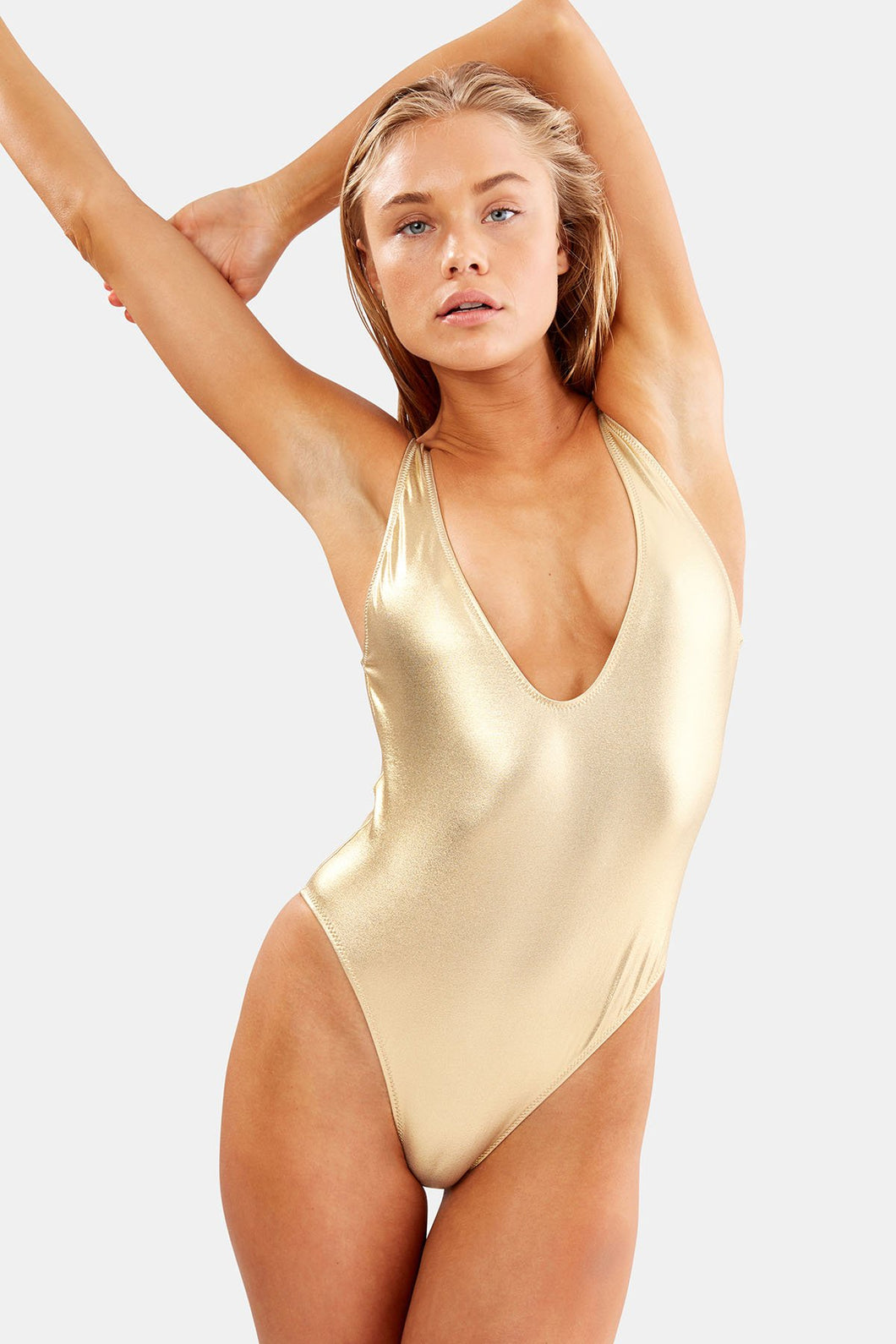 SS-000115  THE MICHELLE METALLIC GOLD