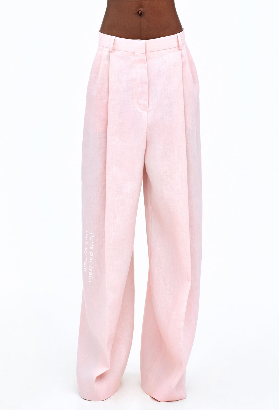 Tattoo Sweaters Pink Linen Pants