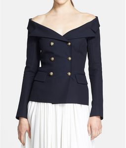 Faith Connexion Off Shoulder Wool Jacket
