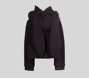 Natasha Zinko DUO Short Black Rabbit Hoodie