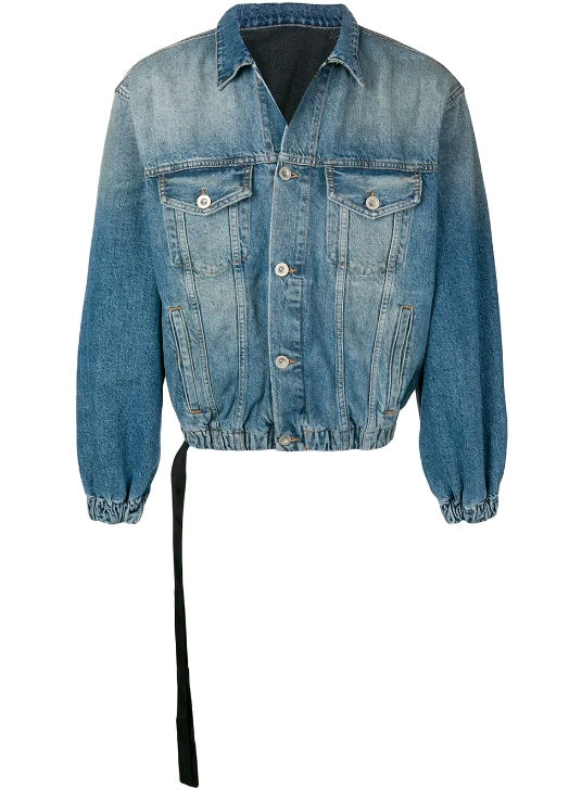 Unravel Drawstring Denim Jacket