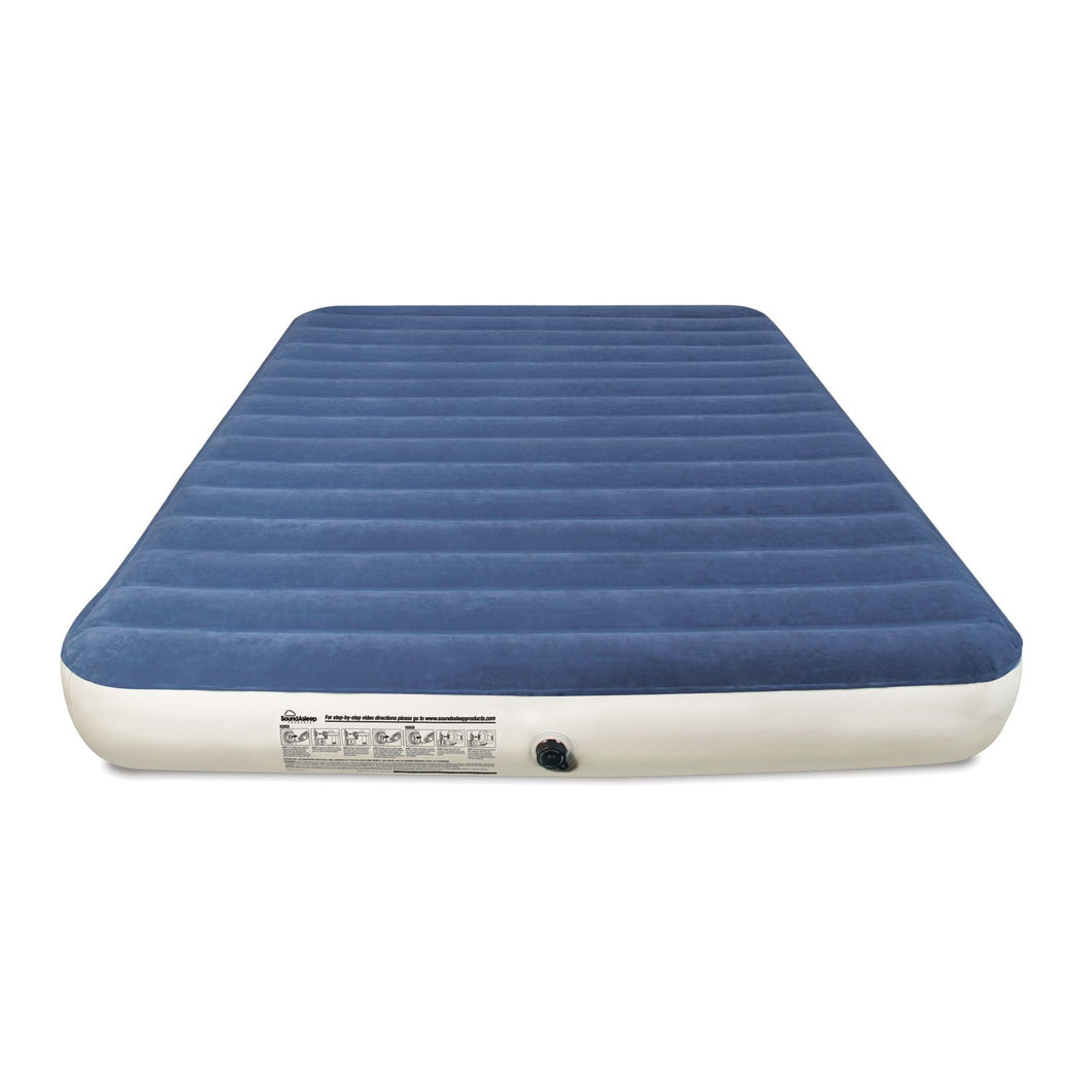 SoundAsleep Camping Series Air Mattress with Eco-Friendly PVC - Included Rechargeable Air Pump - Queen Size