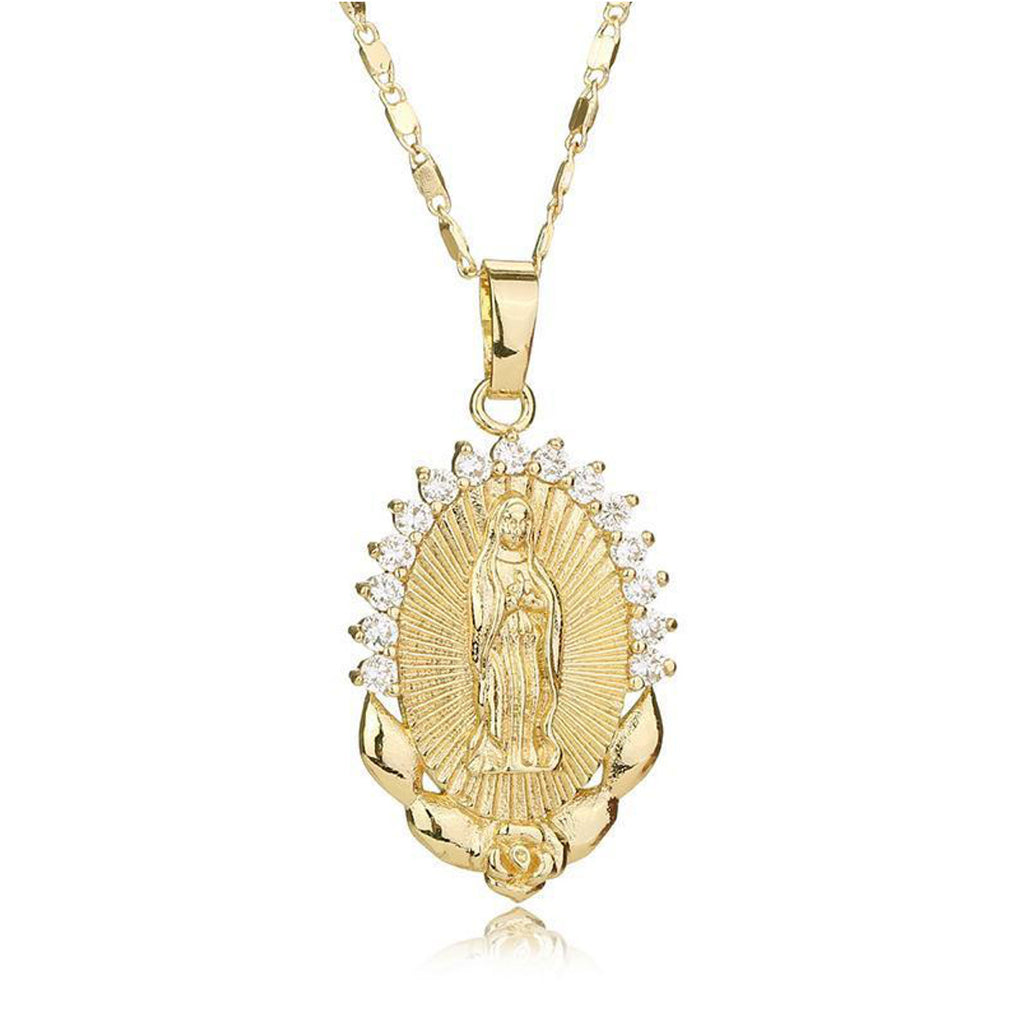 Graceful our lady of guadalupe necklace catholic deal guadalupe necklace mozeypictures Choice Image