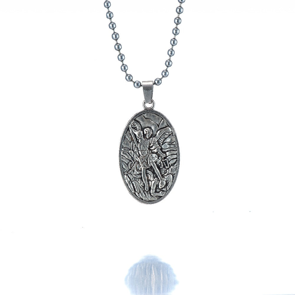 store michaels necklace michael sterling pendant medal s collection jewelry men mm com dp silver the private amazon st