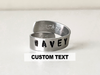 Custom Text Double Band Ring