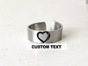 Custom Text Single Band Ring