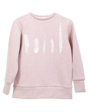 Crew Sweater | Rose Feathers