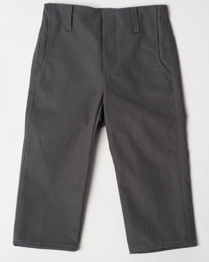 Slim Trouser | Charcoal Herringbone