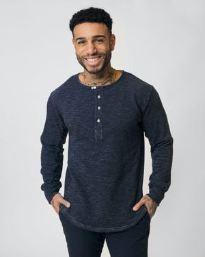Heritage Henley | Navy Melange French Terry