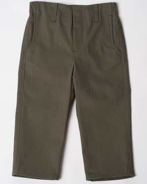Slim Trouser | Olive Herringbone