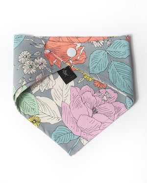 Cotton flower power bandana back