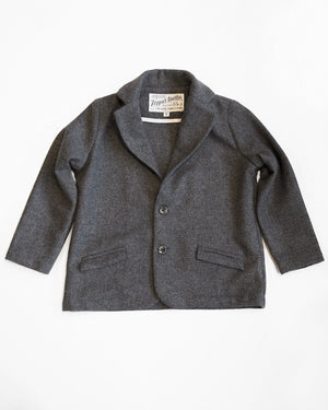 Huckleberry Blazer | Charcoal Wool