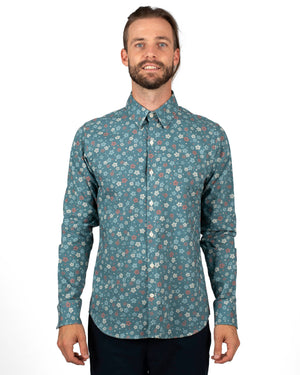 Long Sleeve Dylan | Blue Wildflowers