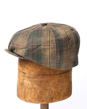 Bruce Cap | Olive Plaid Waxed Cotton