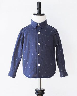 Hopper Shirt Long Sleeve | Navy Anchors