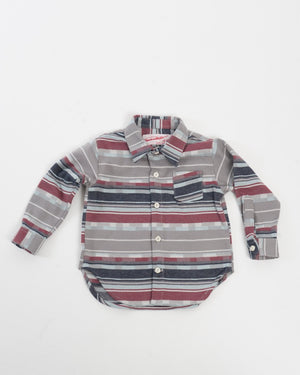 Kids Button-Up Shirt Plaid