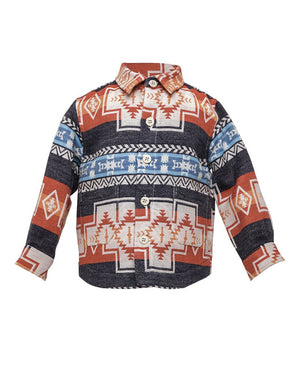Kids Aztec Jacket - front