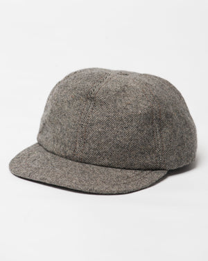 Kids Brown Twill Wool Cap - front
