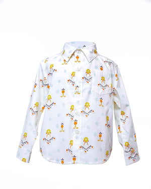 Kids Button Up Dreamcatchers Shirt - front