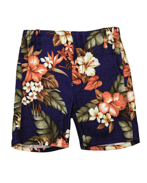 Kid's Summer Shorts Bright Floral Pattern - front
