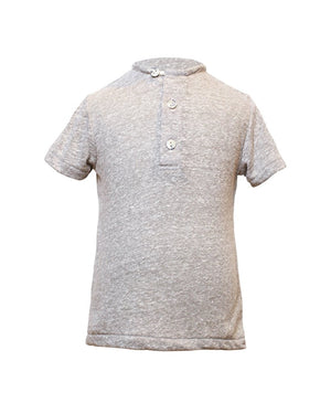 Kids Grey Henley - front