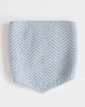 Neckwarmer | Light Blue Merino Wool